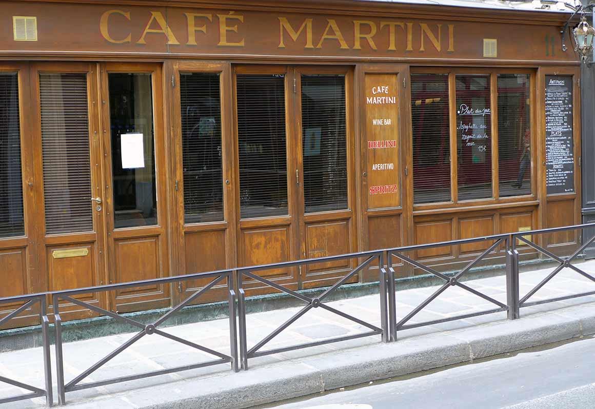 Restaurant Café Martini, le restaurant