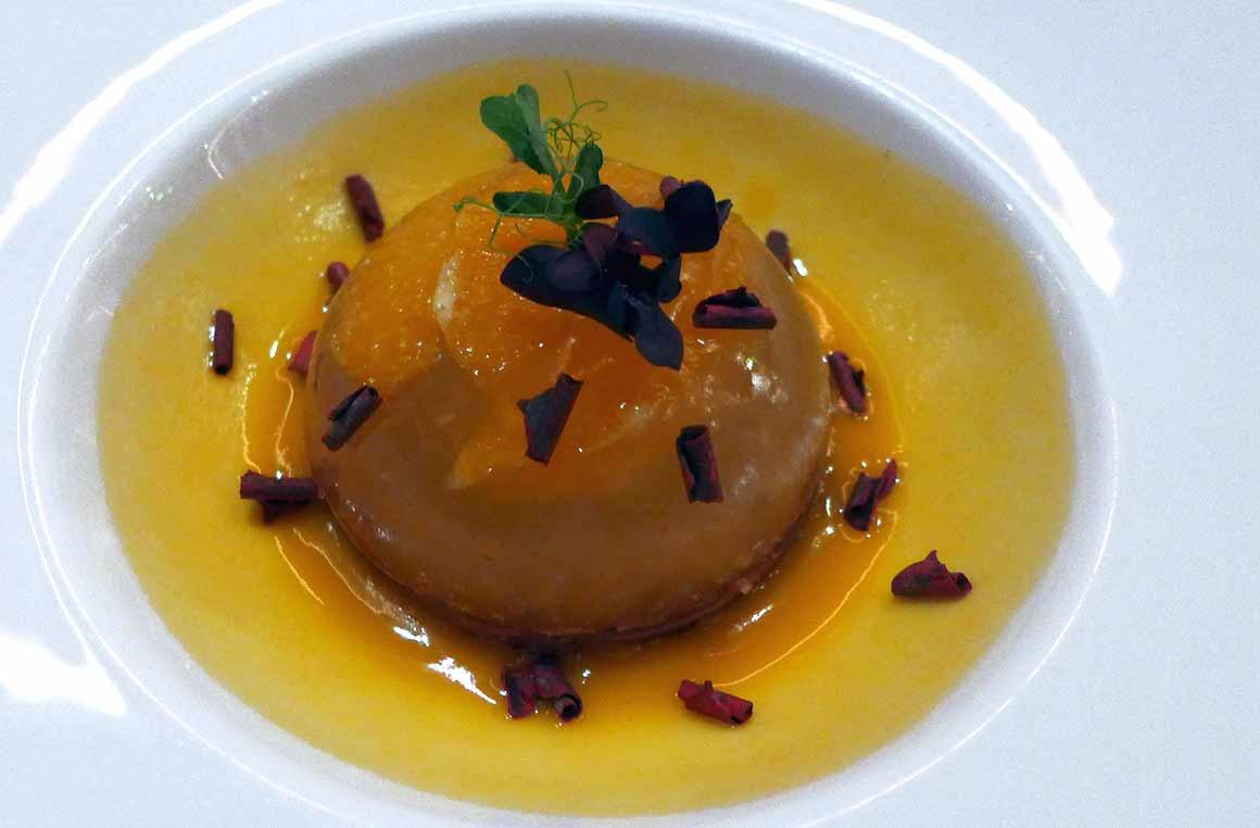 Restaurant Caffè Artcurial : L'Arancio et crumble de biscuit