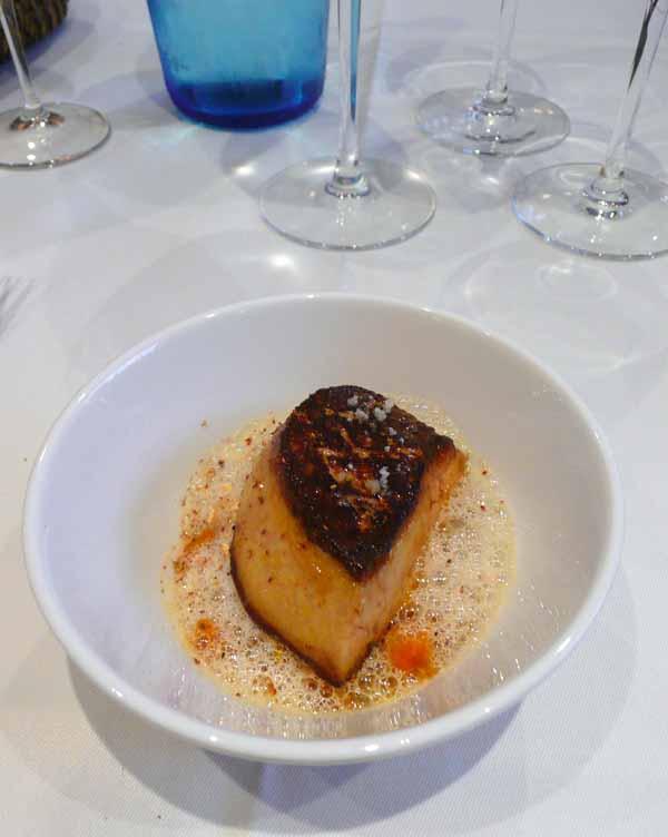 Le Restaurant Caïus, Le foie gras de canard des Landes au sautoir
