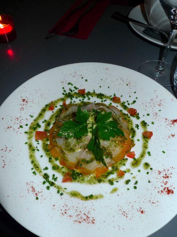 Restaurant Carte sur Table, fin sablé de parmesan