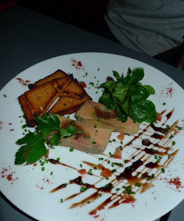 Restaurant Carte sur Table, foie gras aux figues