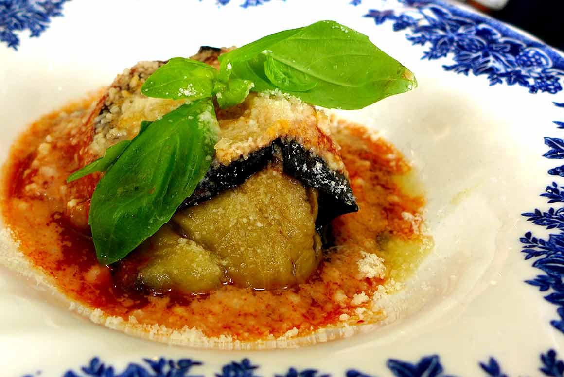 Restaurant Caterina, Gratin d'aubergines