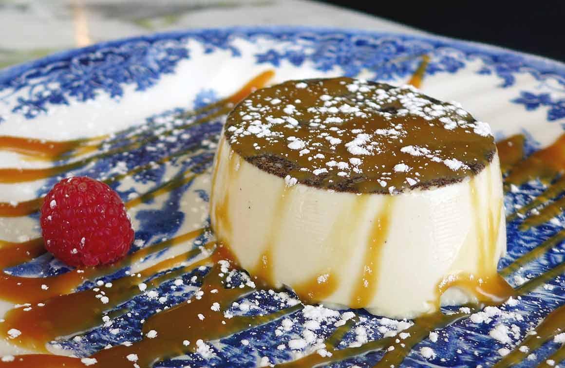 Restaurant Caterina, Panna cotta avec caramel