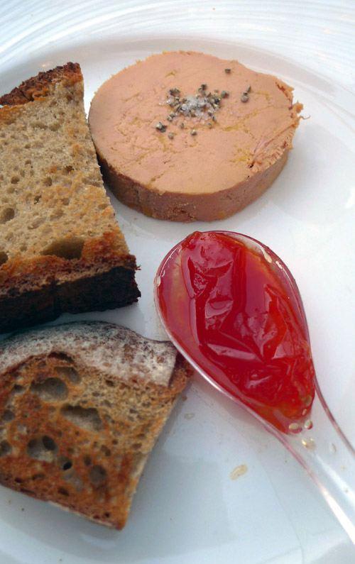 Restaurant Chez Françoise, foie gras de canard