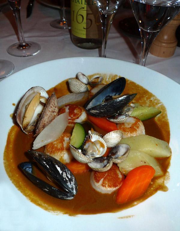 Restaurant Chez Frezet, navarin de Saint-Jacques
