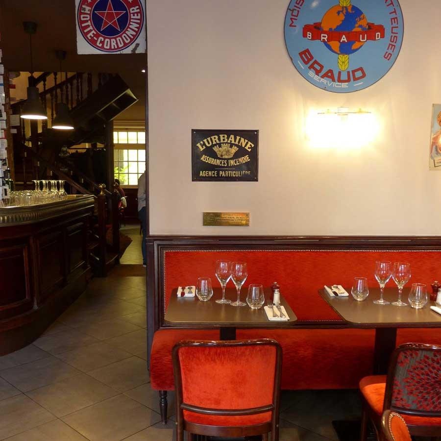 La table du Restaurant Chez Léon