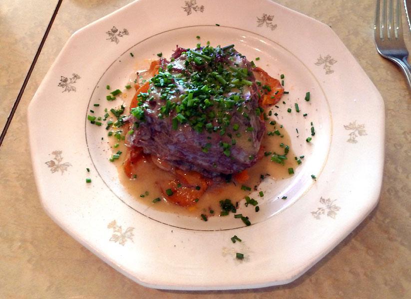 Restaurant Chez Loulou : Joue de bœuf très fondante