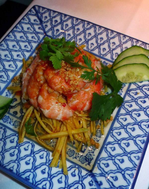 Restaurant Chez Ly : Salade de mangue aux crevettes