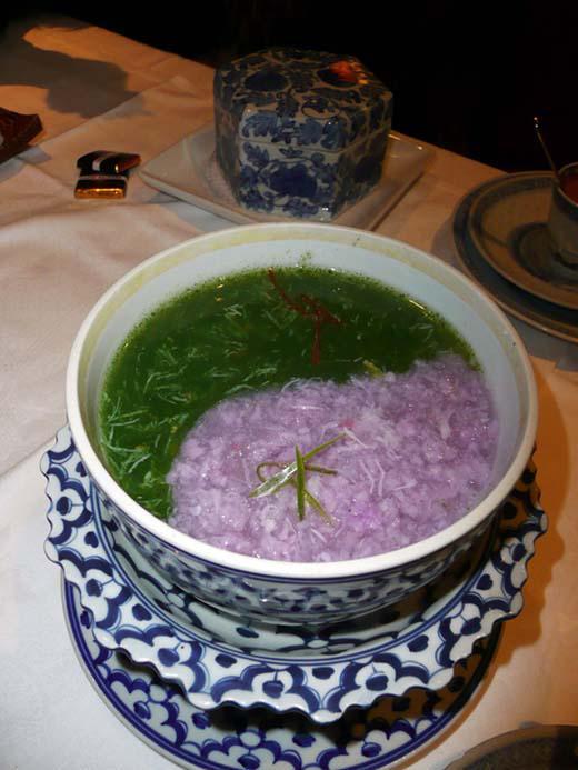 Restaurant Chez Ly : Soupe épinard crabe oignons