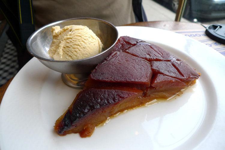 Restaurant Chez Prosper, tarte Tatin et sa glace de la maison Berthillon