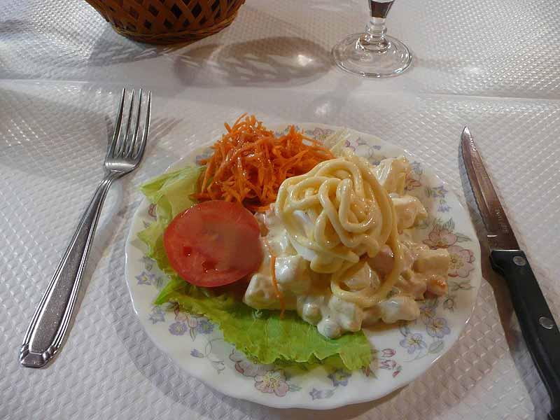 Restaurant Chez Stella, oeuf dur mayonnaise