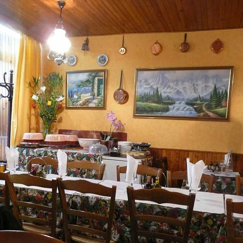 Restaurant Chez Stella, la salle