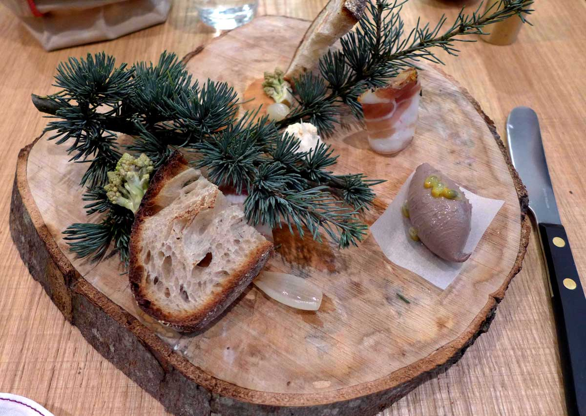 Restaurant Clover, foie de canard