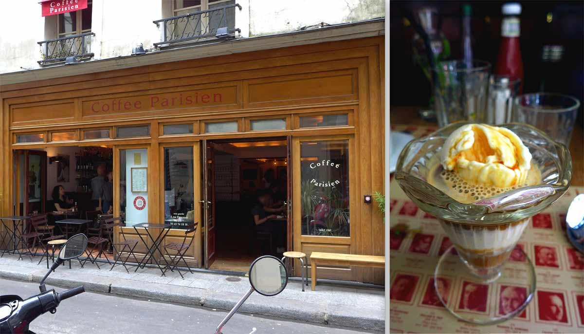 COFFEE PARISIEN, le restaurant et un affogato