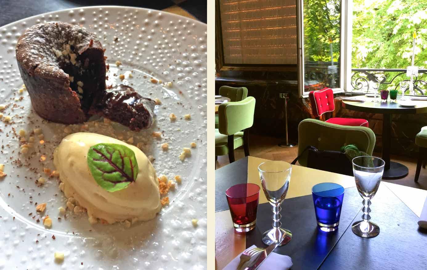 Restaurant Cristal Room Baccarat, chocolat crémeux