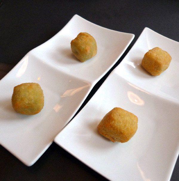 Restaurant Crom' Exquis : Petits cromesquis aux herbes