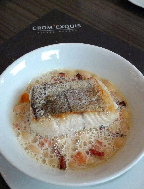 Restaurant Crom' Exquis : Merlu aux haricots de Paimpol