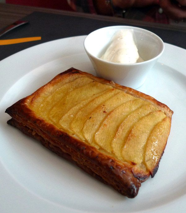 Restaurant Crom' Exquis : Tarte aux pommes glace vanille