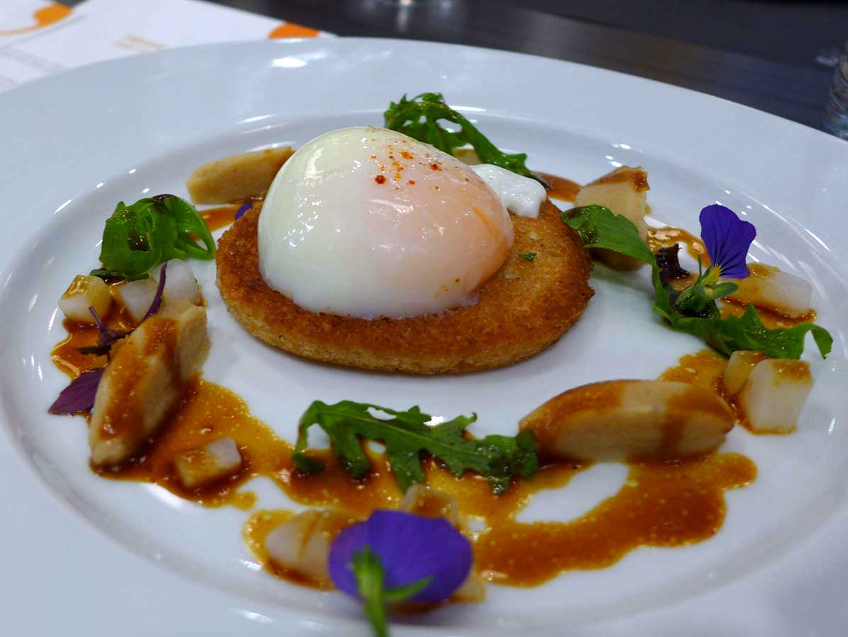 Restaurant Crom'Exquis : Oeuf parfait aux cèpes