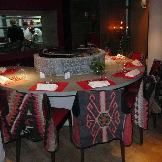 Restaurant Deda, table-brassier
