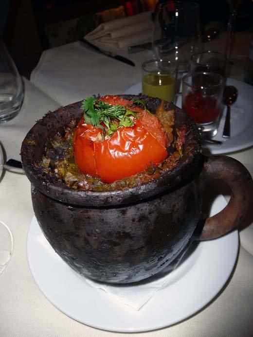 Restaurant Deda, le tchanakhi