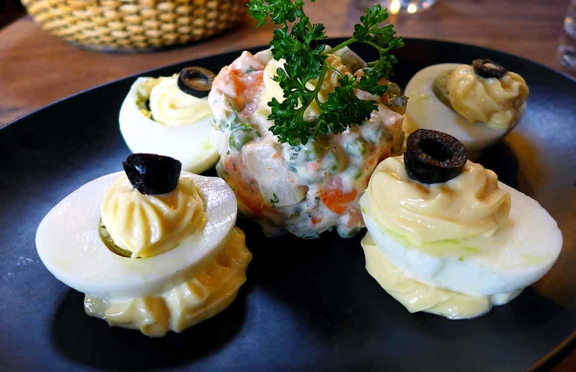 Brasserie Le Balthazar : Œufs mayonnaise et macédoine
