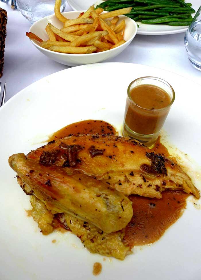 Restaurant La Gare, Poulet fermier des Landes rôti