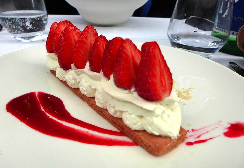 Restaurant La Gare, Tarte sablée aux fraises
