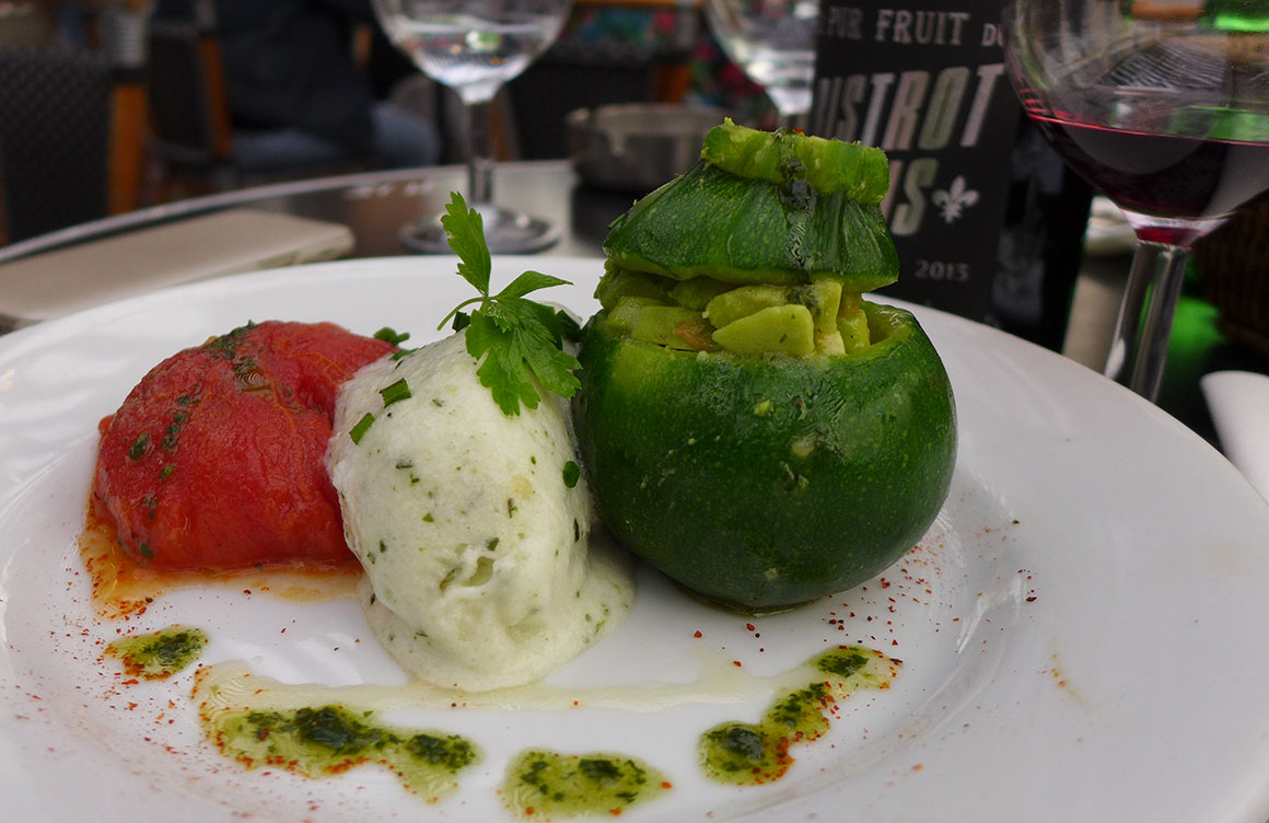 Bistrot VALOIS : Tomate et courgette