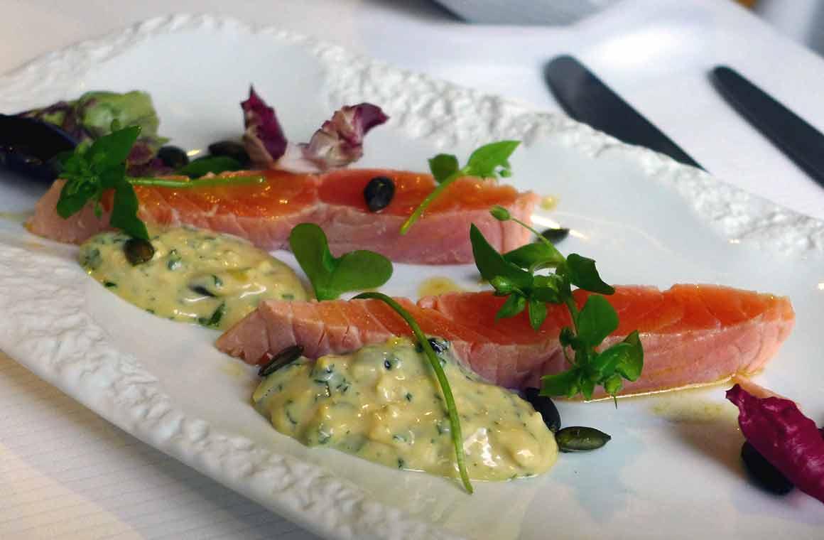 Restaurant Gaya, Coeur de saumon d'Isigny Adour