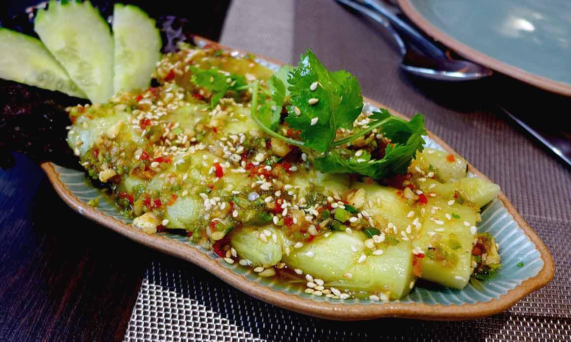 Restaurant MAKHAM THAI, Aubergines grillées à l'huile de sésame
