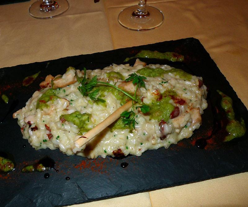 Restaurant Bellini, Le risotto aux cèpes