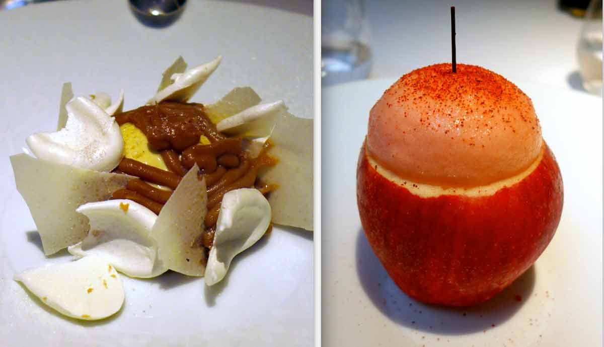 Restaurant La Table du 53, Pavlova aux châtaignes et déclinaison de pommes