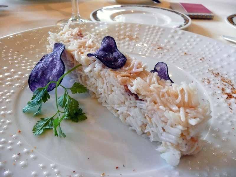 Restaurant Dessirier, Le tourteau décortiqué
