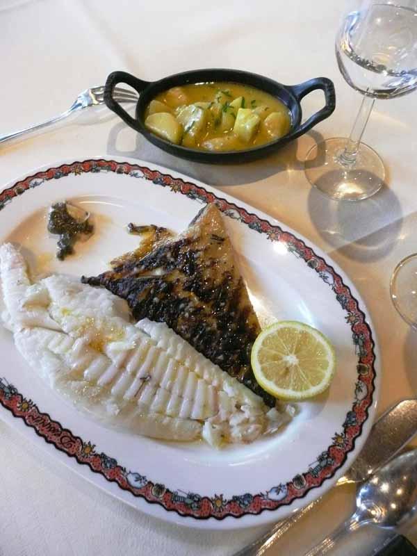 Restaurant Dessirier, Le pavé de bar rôti
