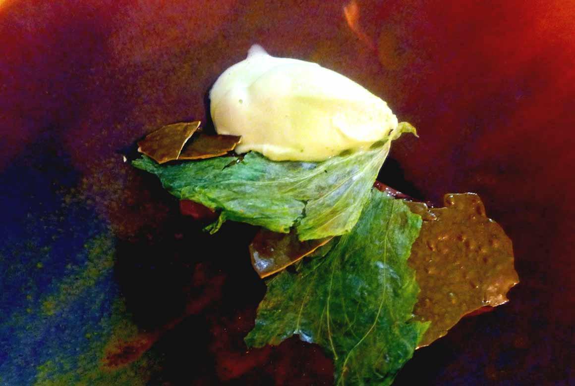 Restaurant DETOUR : Langue de veau, glace béarnaise
