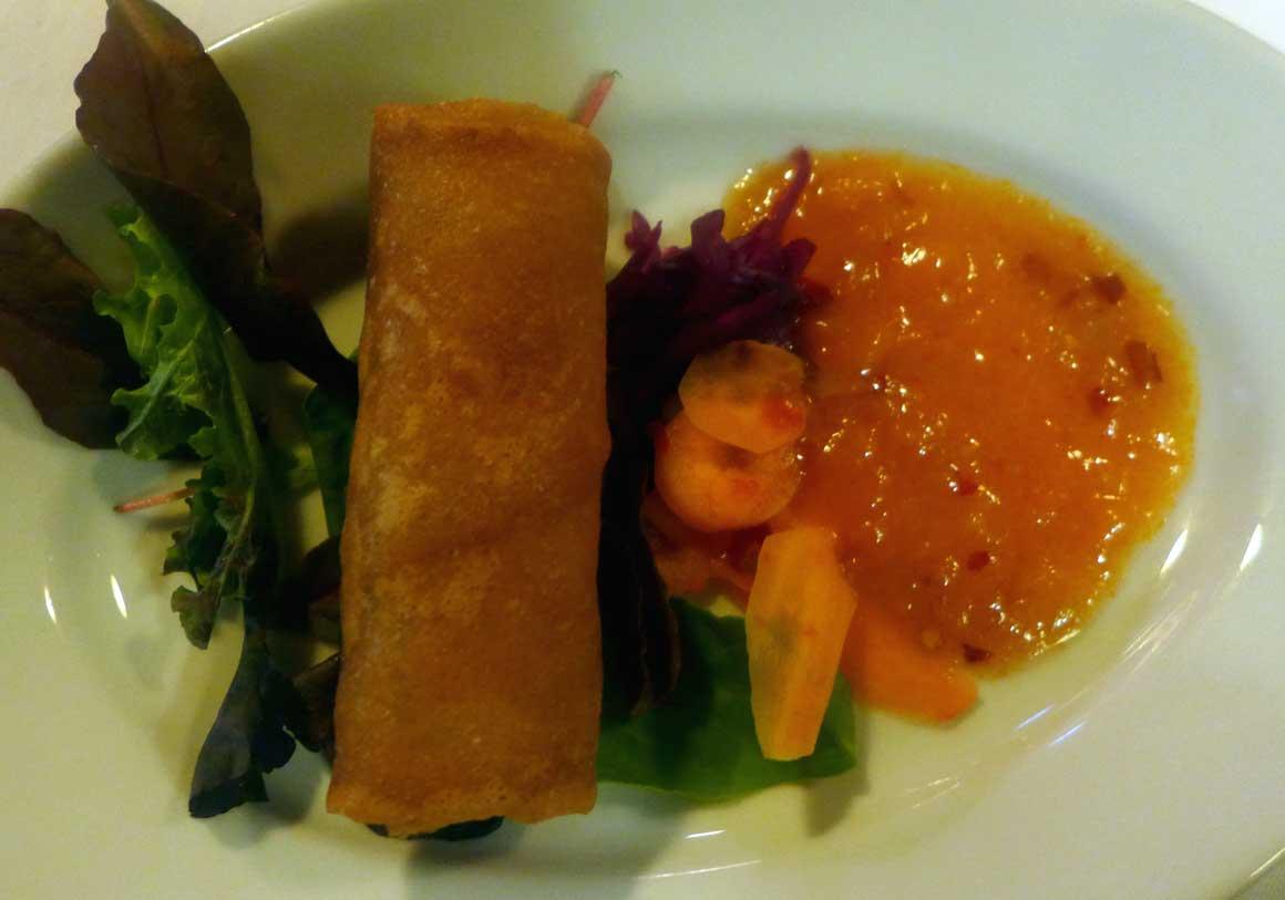 Restaurant DJAKARTA BALI, rouleaux frits