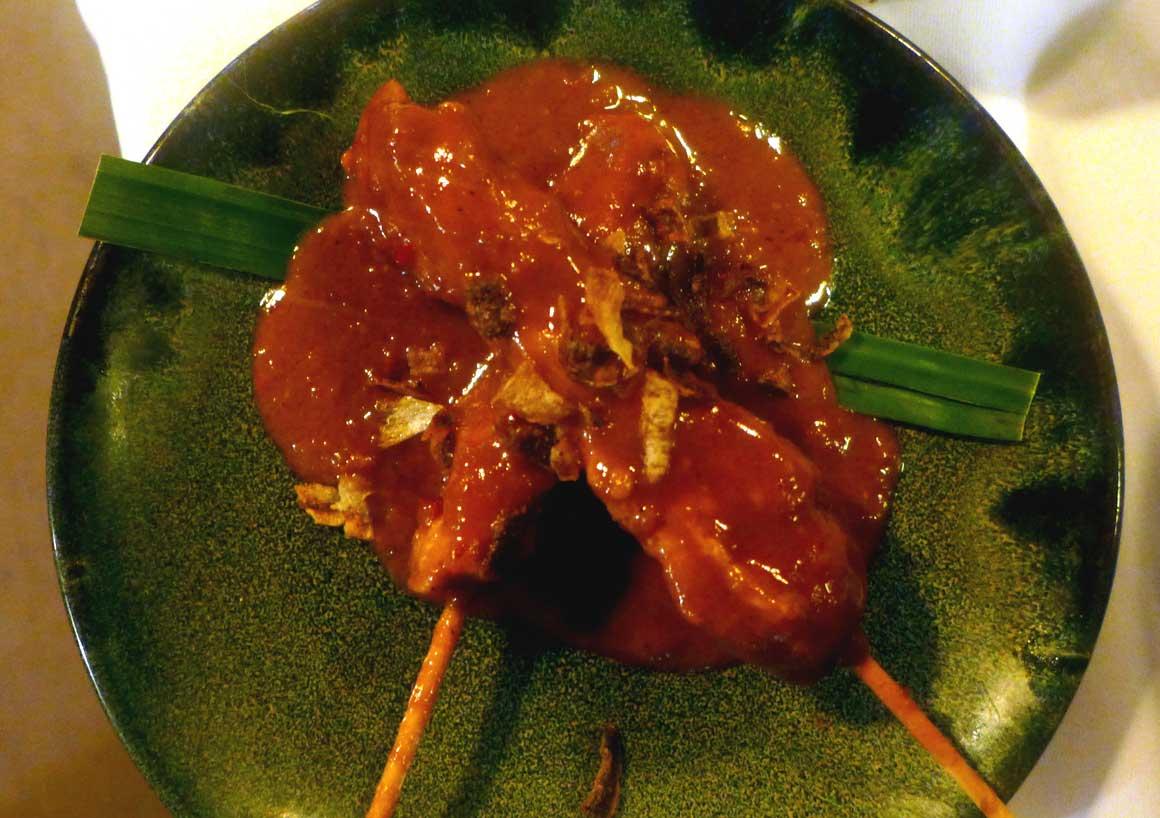 Restaurant DJAKARTA BALI, brochette de poulet