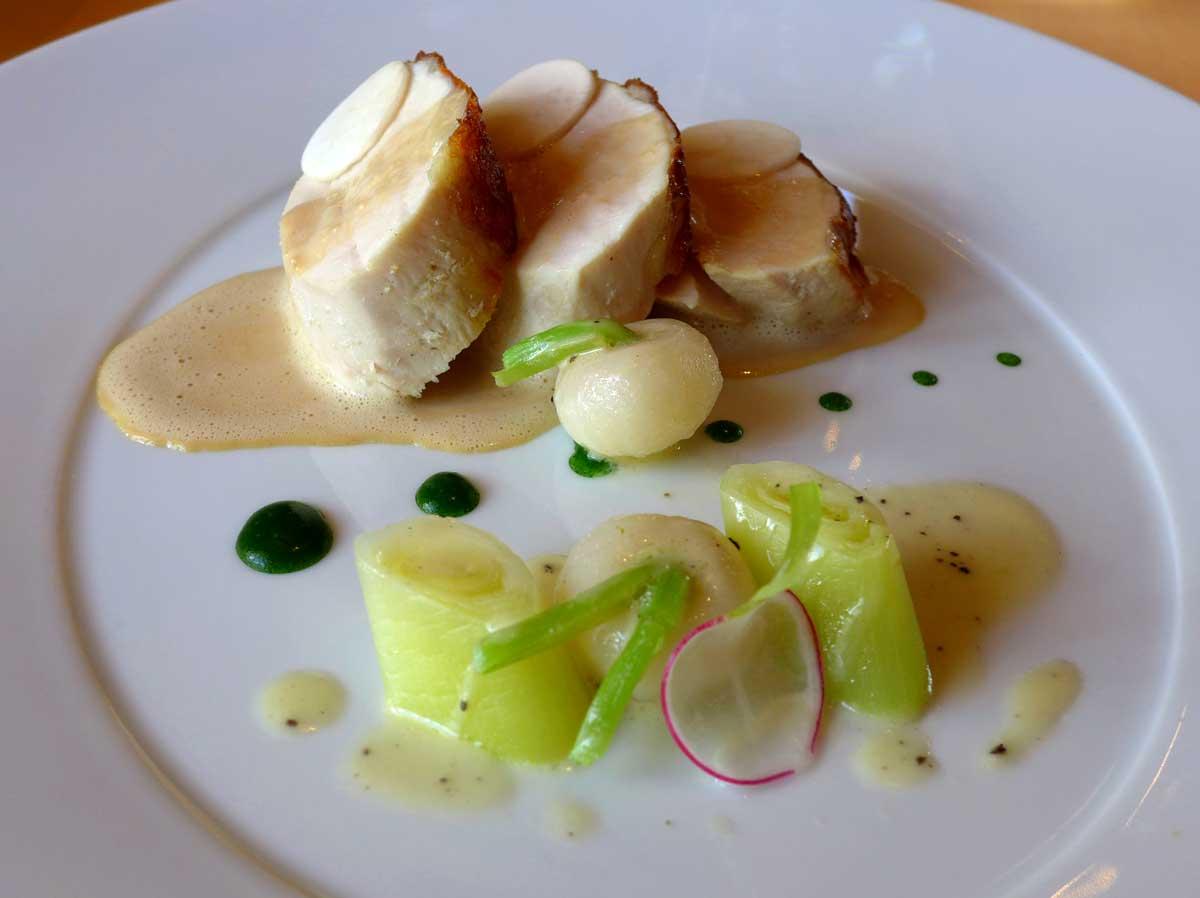 Restaurant Domaine des Hauts de Loire : Poulet bio poché