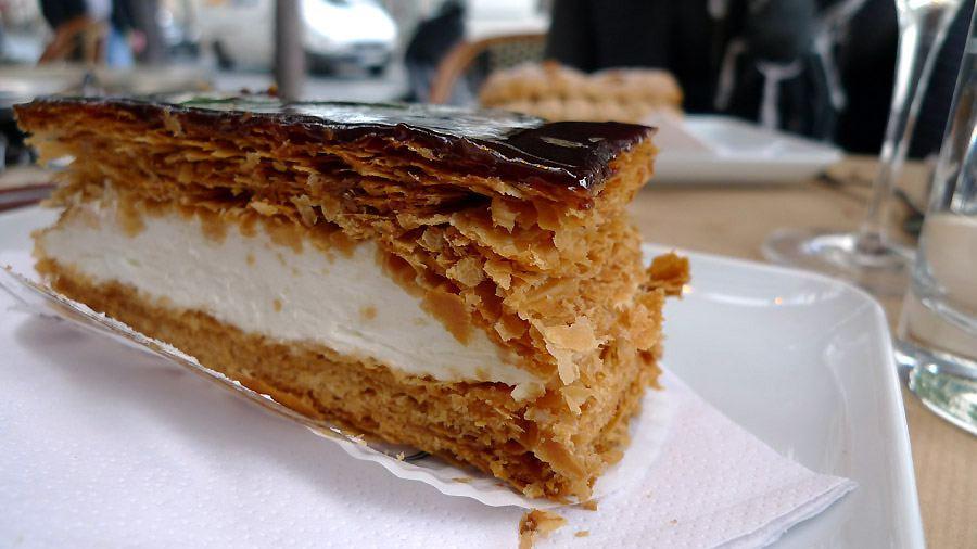Pâtisserie Dominique Saibron, Le mille-feuilles au caramel