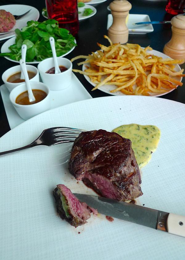 Restaurant Drugstore Steakhouse Publicis : Filet de bœuf Aubrac