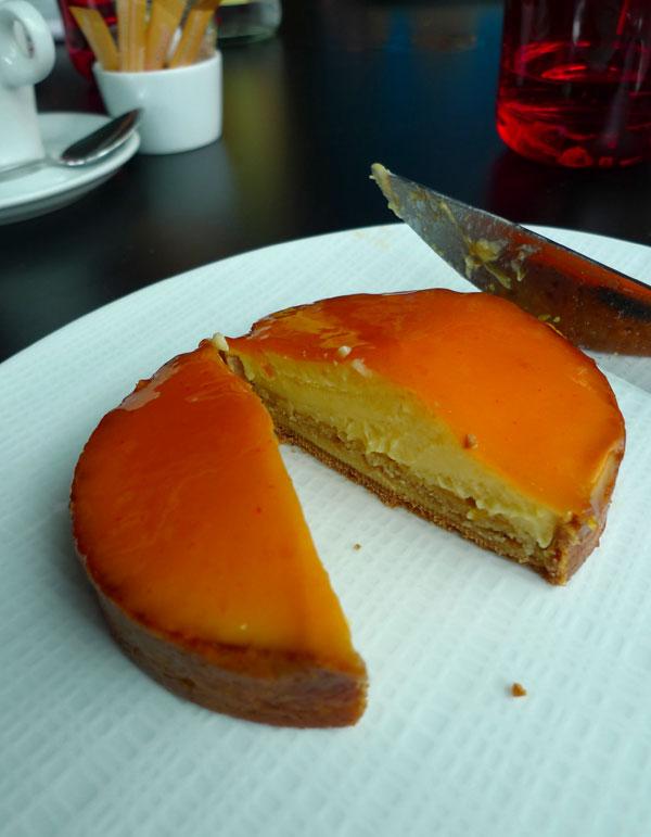 Restaurant Drugstore Steakhouse Publicis : Tarte douce à l'orange