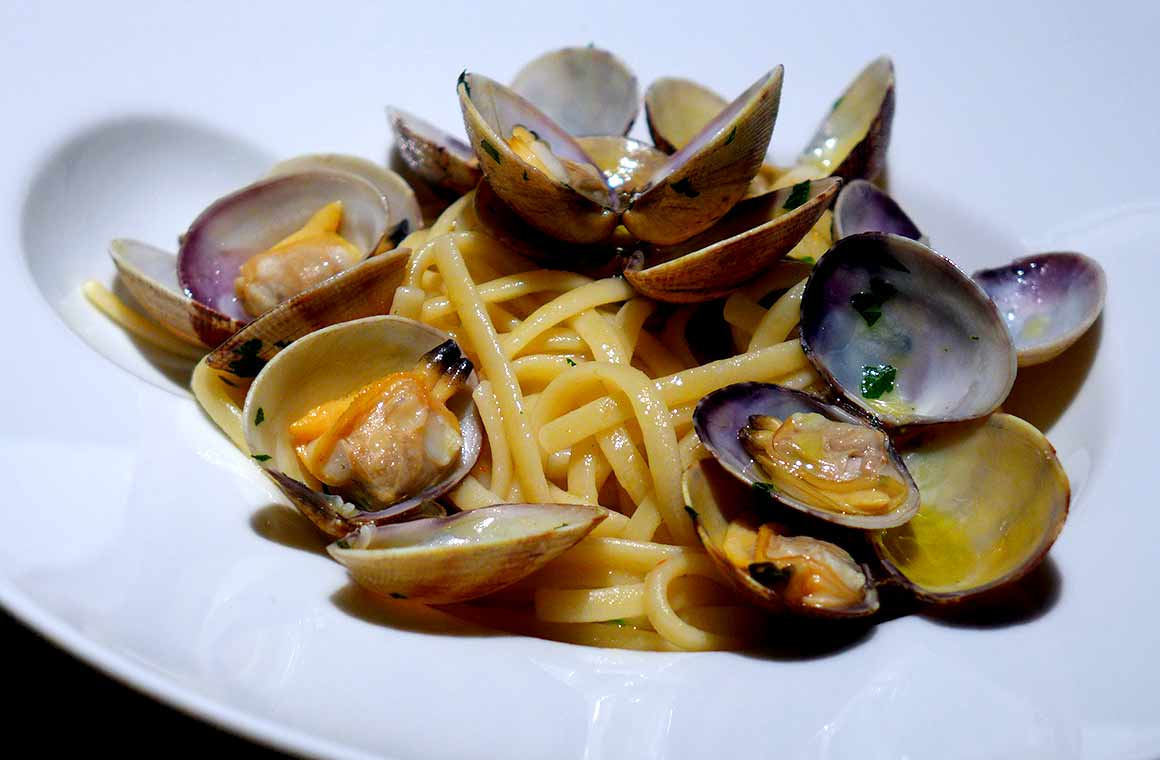 Restaurant Emporio Armani Caffe : Linguine aux palourdes sauvages