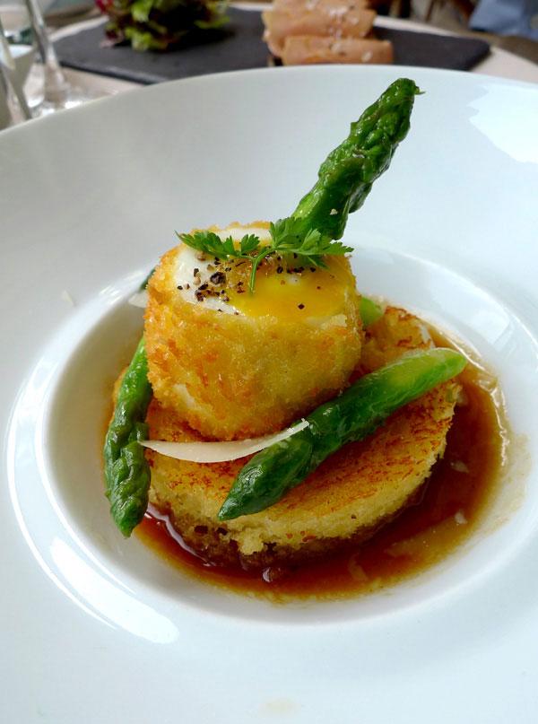 Restaurant Mini Palais, oeuf mollet frit