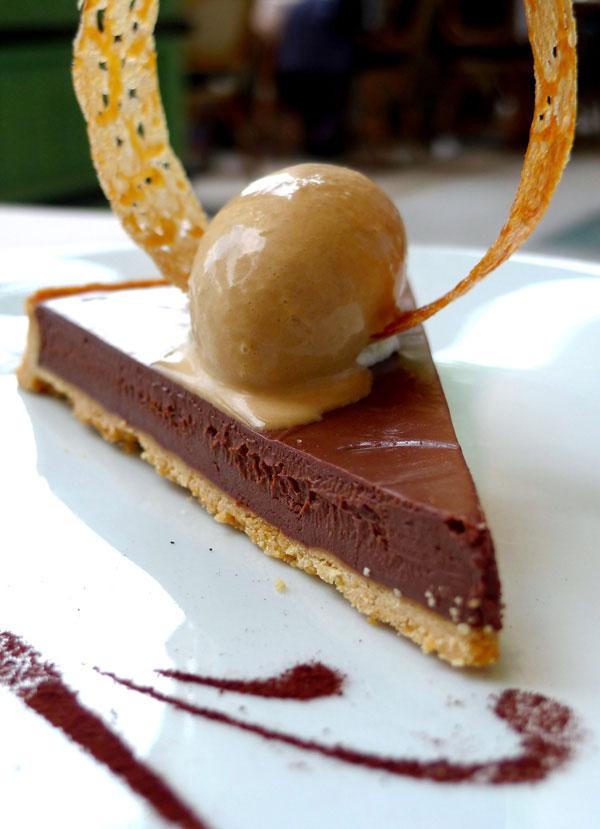 Restaurant Mini Palais, tarte au chocolat Guanaja