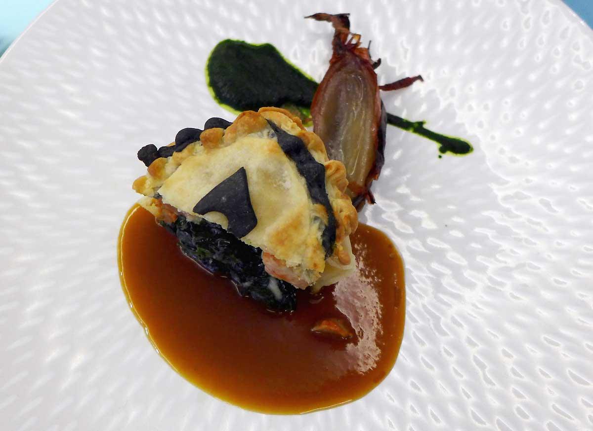 Restaurant Etoile-sur-mer : Lotte en croûte
