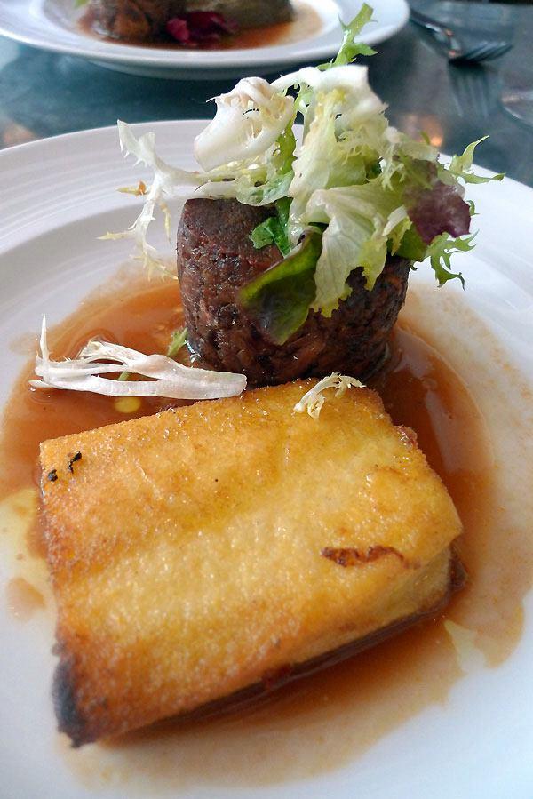 Restaurant Fish La Boissonnerie, confit d'agneau et son jus