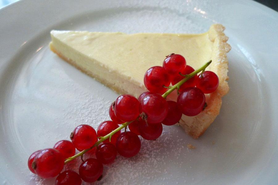 Restaurant Fish La Boissonnerie, tarte au citron vert et chocolat blanc