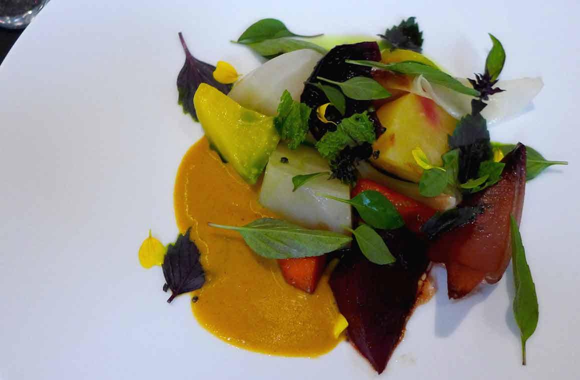 Restaurant Fleur de Pavé, légumes confits