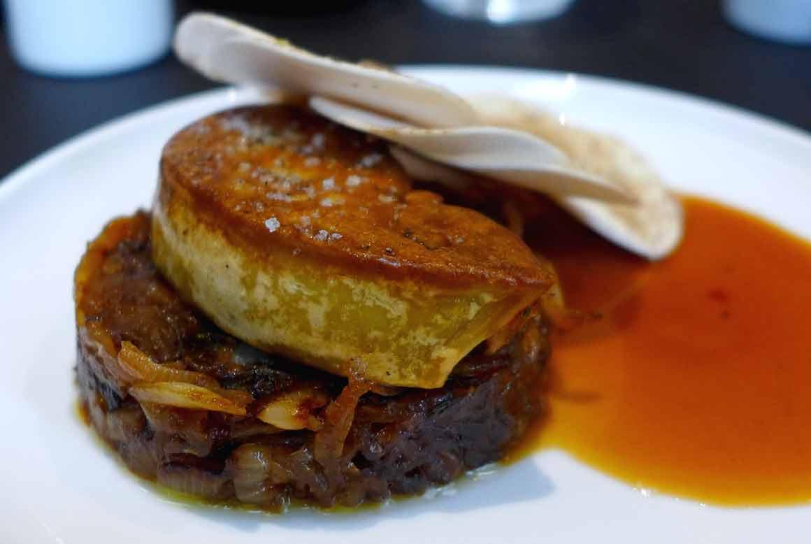 Restaurant Fleur de Pavé, tarte avec foie gras